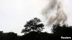 دود ناشی از حمله و انفجار در محل کاخ ریاستجمهوری و ساختمانهای نزدیک به آن