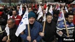 Протести во Атина.