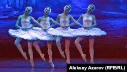 A scene from the ballet Swan Lake being performed in Almaty, Kazakhstan, in 2017