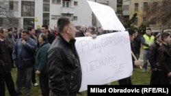 Protest poljoprivrednika u Sarajevu