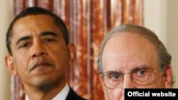 George Mitchell's (right) trip is seen as an important boost to the peace effort because he has a proven record of success in brokering ends to conflicts.