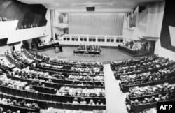 Общий план зала заседаний Хельсинкской конференции, 31 июля 1975 г.