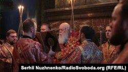 Богослужение патриарха Филарета в Киеве. 11 октября 2018 года