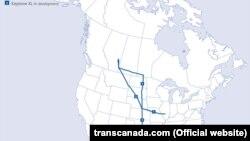 Traseul oleoductului Keystone de 3,467 km (2,154 miles)