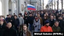 Шествие на Тверской. 26 марта. 14-30.