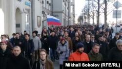 Moskvada qabarcılıqqa qarşı miting, 26 mart 2017 senesi
