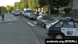 Вайсковая тэхніка на вуліцах Менску