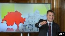 Швейцария халық партиясының төрағасы Тони Бруннер. Берн, 18 қазан 2015 жыл