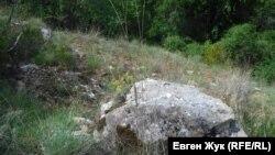 Крутой каменистый склон