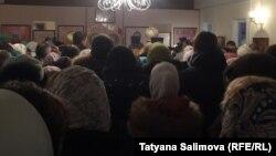 Первая служба в храме на Каштачной горе в Томске