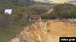 ნიადაგის განადგურებული საფარი სოფელ რგანში, ჭიათურის მუნიციპალიტეტი