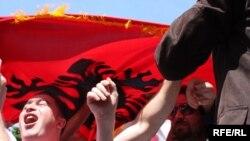 Протест на албански невладини организации, Скопје, 2010