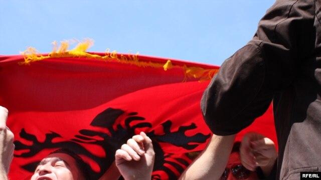Protest albanskih NVO u Skoplju - ilustracija