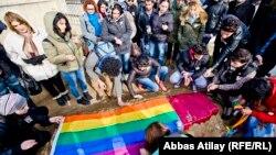 Похороны лидера организации «Свободные ЛГБТ» Исы Шахмарлы