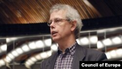 Dutch politician Tiny Kox, who heads the PACE mission observing Russian parliamentary elections.