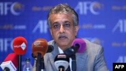 АЗия футбол федерациясының жаңа сайланған президенті Салман бин Ибрахим әл-Халифа. Куала-Лумпур, 2 мамыр 2013 жыл.