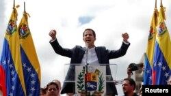 Хуан Гуайдо на мітынгу ў Каракасе 23 студзеня 2019