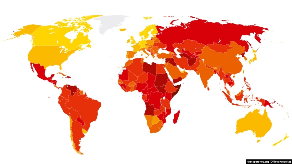 Transparency international ranks iran among most corrupt countries transparency international 2017 world map based on rankings gumiabroncs Image collections