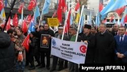 Акция против Путина в Анкаре, 1 декабря 2014 года