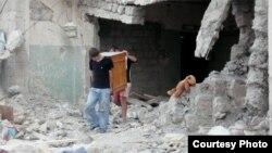 """Кадр из документального фильма Нино Киритадзе """"Кое-что о Грузии"""" о войней 2008"""