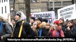 На одному з попередніх студентських протестів у Києві 31 січня