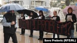 Protest na Međunarodni dan žena, Pogorica 8. mart 2013.