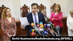 Ukraine -- Saakashvili in Court of Appeal, Kyiv, 03Jan2018