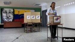 Избирательный участок в Каракасе, Венесуэла, 20 мая 2018 года