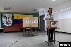 На одном из избирательных участков в Каракасе. 20 мая 2018 года