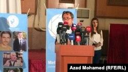 منسق مركز ميترو رحمن غريب في كلمة بيوم حرية الصحافة في السليمانية