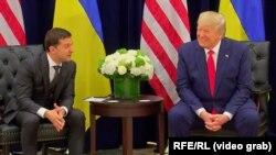 Donald Trump și Volodimir Zelenski, Națiunile Unite, 25 septembrie 2019