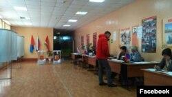 избирательный участок в Мичуринске