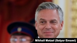 RUSSIA -- The new U.S. ambassador to Russia, Jon Huntsman, attends a ceremony of receiving diplomatic credentials from foreign ambassadors at the Kremlin in Moscow, October 3, 2017