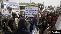 Архивска фотографија: Протест во кампот Ашраф на 9 април 2011 година.