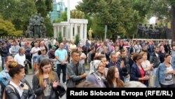 Протест за општа амнестија на затвореници во Скопје.