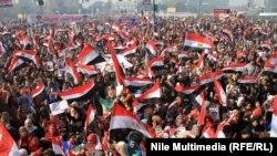 مراسم دولتی سالگرد قیام مصر در میدان تحریر قاهره