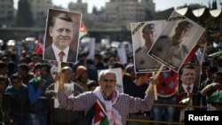 في مسيرة تضامن واحتجاج، 5 شباط 2015