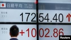 Stanje na japanskom industrijskom indeksu Nikkei, fotoarhiv