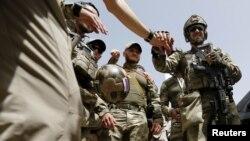 Российское спецподразделение на седьмых по счету ежегодных соревнованиях Warrior в тренировочном центре в Аммане. 20 апреля 2015 года.