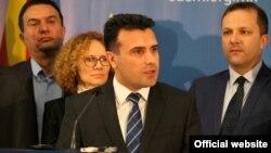 Прес конференција на Зоран Заев, претседател на СДСМ