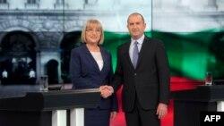 Цецка Цачева и Румен Радев, кандидаты в президенты Болгарии.