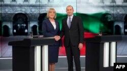 Кандидатката на ГЕРБ, Цецка Цачева и независниот кандидат Румен Радев.
