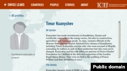«Халықаралық журналист-зерттеушілер консорциумы» ұйымы жариялаған мәліметтің скриншоты