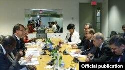 Встреча премьер-министра Армении Овика Абрамяна с руководством Всемирного банка, Вашингтон, 13 октября 2014 г.
