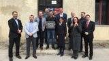 """Grupa ambasadora frankofonskih zemalja dodijelila je Muameru Čiviću i Miroslavu Andriću priznanje pod nazivom """"Most za budućnost""""."""
