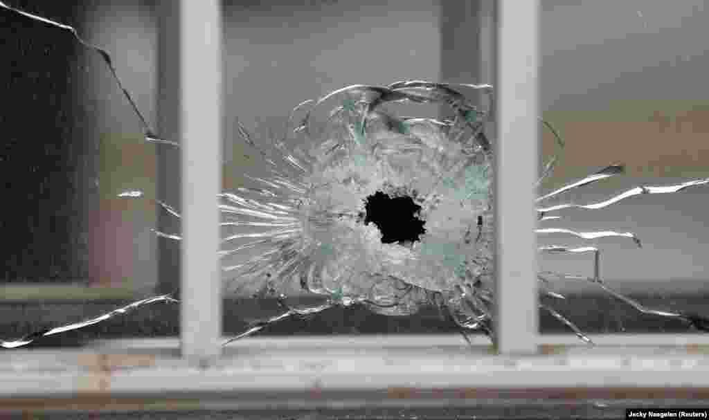 Офис редакцииCharlie Hebdo после нападения террористов