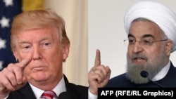 A combo photo of U.S. President Donald Trump (left) and Iranian President Hassan Rohani