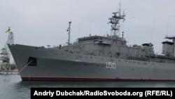 Корабель управління Військово-Морських Сил України «Славутич», Севастополь 30 грудня 2013