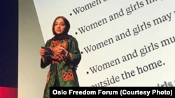 Fatemah Qaderyan at the Oslo Freedom Forum
