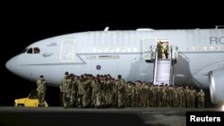 British soldiers, who are part of NATO's deterrent against Russia, arrived in Estonia on March 17.